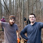 Two Affiliates working in the woods.